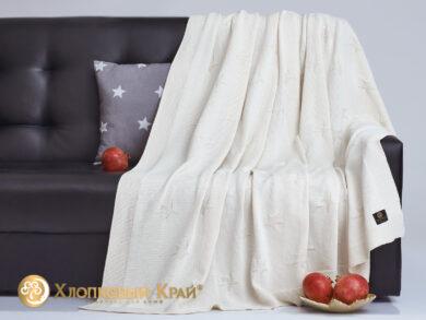 плед-покрывало на кровать Лаунж молоко 180*220см, фото 4