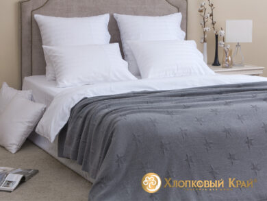 плед-покрывало на кровать Лаунж серый 180*220см, фото 3