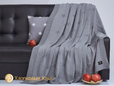 плед-покрывало на кровать Лаунж серый 180*220см, фото 4