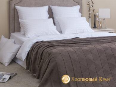 плед-покрывало на кровать Сканди кофе 180*220см, фото 3