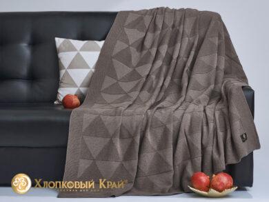 плед-покрывало на кровать Сканди кофе 180*220см, фото 4