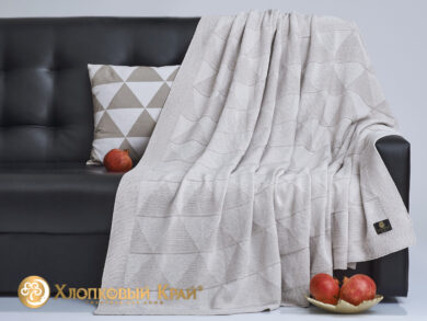 плед-покрывало на кровать Cканди лен 180*220см, фото 4