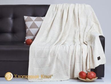 плед-покрывало на кровать Сканди молоко 180*220см, фото 4