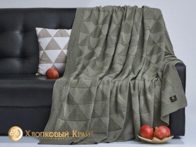 плед-покрывало на кровать Сканди полынь 180*220см, фото 4