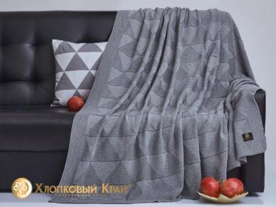 плед-покрывало на кровать Сканди серый 180*220см, фото 4