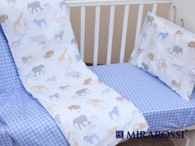 Постельное белье для новорожденных Африка blue, фото 5