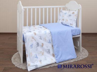 Постельное белье для новорожденных Африка blue, фото 7