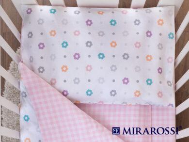 Постельное белье для новорожденных Цветочек pink, фото 2