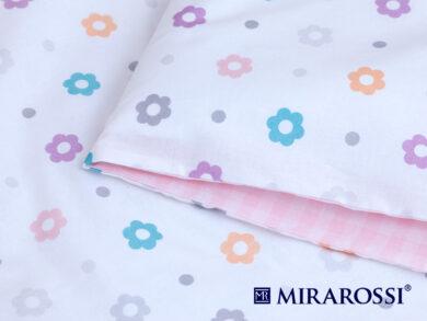 Постельное белье для новорожденных Цветочек pink, фото 3