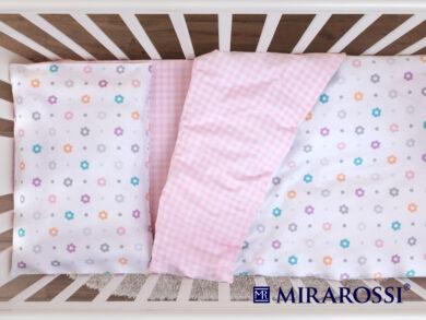Постельное белье для новорожденных Цветочек pink, фото 4