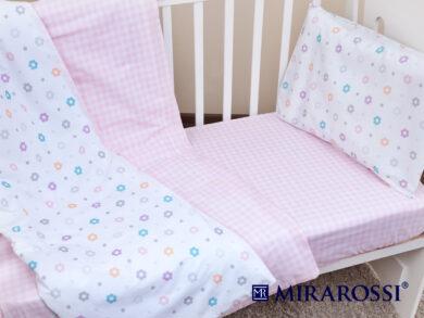 Постельное белье для новорожденных Цветочек pink, фото 5