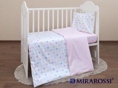 Постельное белье для новорожденных Цветочек pink, фото 7