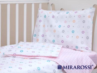 Постельное белье для новорожденных Цветочек pink, фото 8