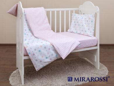 Постельное белье для новорожденных Цветочек pink, фото 9