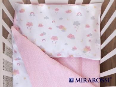 Постельное белье для новорожденных Облачко pink, фото 2