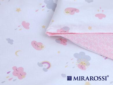 Постельное белье для новорожденных Облачко pink, фото 3