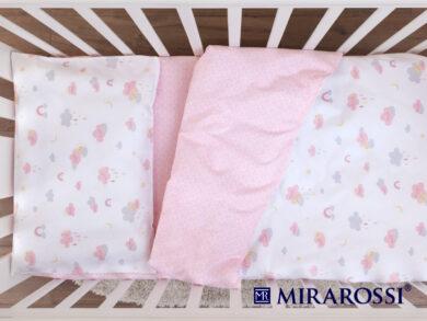 Постельное белье для новорожденных Облачко pink, фото 4