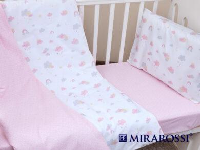 Постельное белье для новорожденных Облачко pink, фото 5