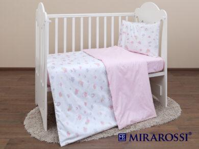 Постельное белье для новорожденных Облачко pink, фото 7