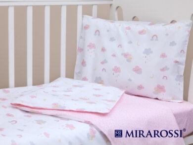 Постельное белье для новорожденных Облачко pink, фото 8