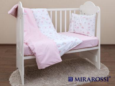 Постельное белье для новорожденных Облачко pink, фото 9