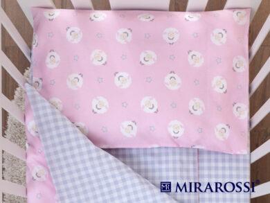 Постельное белье для новорожденных Овечки розовые, фото 2