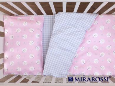 Постельное белье для новорожденных Овечки розовые, фото 4