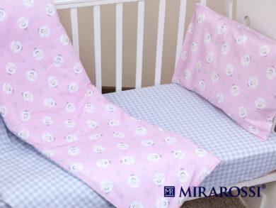 Постельное белье для новорожденных Овечки розовые, фото 5