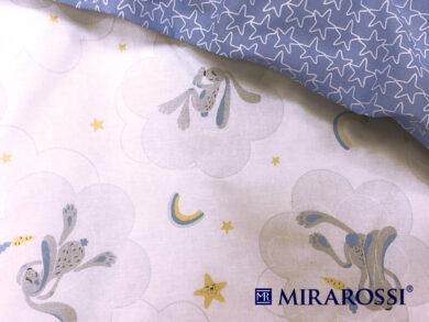 Постельное белье для новорожденных Зайка blue, фото 3