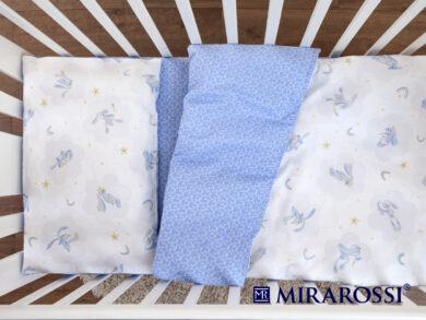 Постельное белье для новорожденных Зайка blue, фото 4