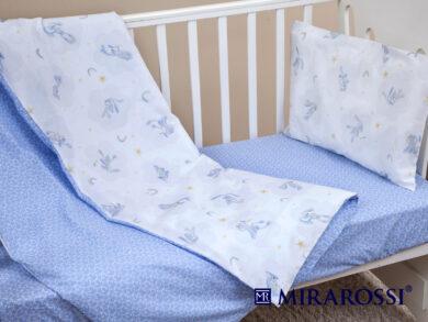 Постельное белье для новорожденных Зайка blue, фото 5