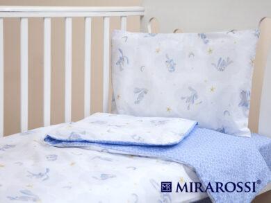 Постельное белье для новорожденных Зайка blue, фото 8