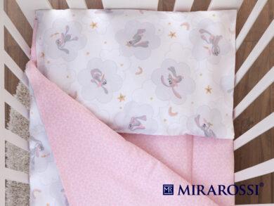 Постельное белье для новорожденных Зайка pink, фото 2