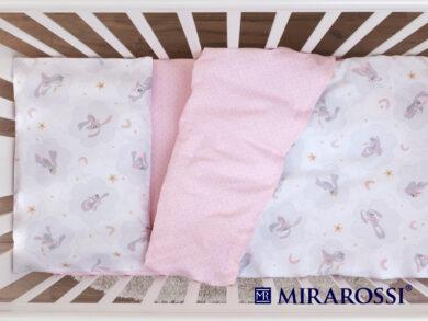 Постельное белье для новорожденных Зайка pink, фото 4