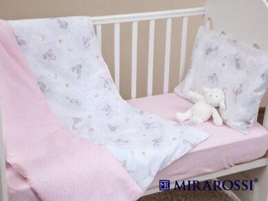 Постельное белье для новорожденных Зайка pink, фото 5