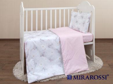 Постельное белье для новорожденных Зайка pink, фото 7