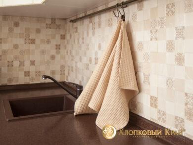 Набор из 3-х полотенец 45*70 см БЕЖ, фото 7