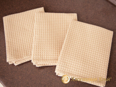 Набор из 3-х полотенец 45*70 см БЕЖ, фото 6
