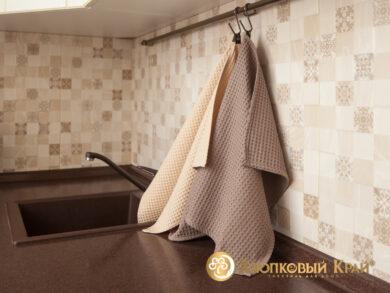 Набор из 3-х полотенец 45*70 см БЕЖ, фото 4