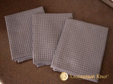 Набор из 3-х полотенец 45*70 см ГРАФИТ, фото 5