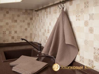 Набор из 3-х полотенец 45*70 см КОФЕ, фото 2