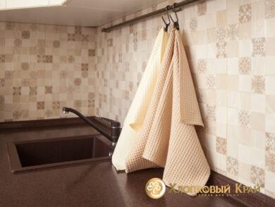 Набор из 3-х полотенец 45*70 см МОЛОКО, фото 4