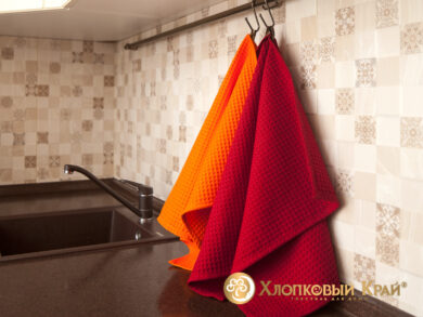 Набор из 3-х полотенец 45*70 см ОРАНЖ, фото 6