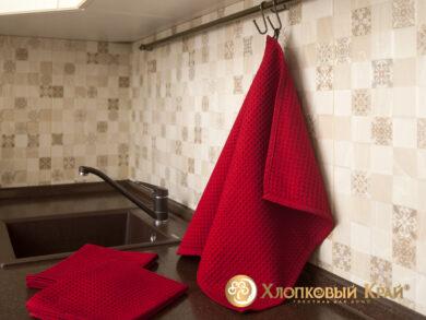Набор из 3-х полотенец 45*70 см ВИШНЯ, фото 2