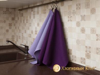Набор из 3-х полотенец 45*70 см ФИОЛЕТ, фото 4
